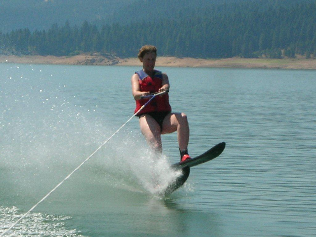 Water Skiing on Dworshak Reservoir