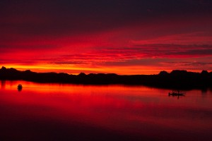 God's Evening Glory over Lake Havasu, Arizona