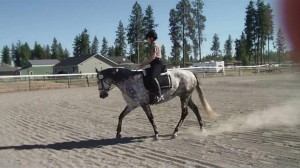 "Aug. 2012-Kim riding ""Jewels"""