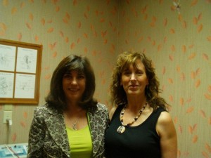 Vicki Sims, PT with Kim before flying to Florida 4-days post op SI alignment check at 100%