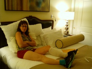 Hotel room right after 9/25/12 nerve surgery at Green Valley Ranch Resort
