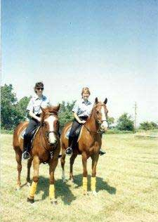 L>R Kim and Catherine, Lake Parks Volunteer Mounted Posse