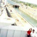 Dean's ship transiting the Panama Canal