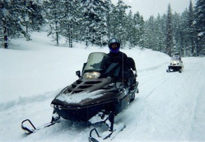 Snowmobiling in Dixie Idaho