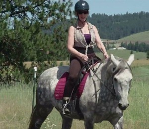 7-4-13 Kim back in saddle at 7 weeks post-op