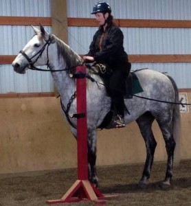 "5-3-14 Kim on ""Jewels"" at horse training clinic"