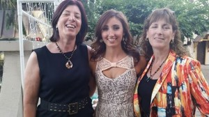 Wedding with  sister, ,Marilyn and daughter Ally