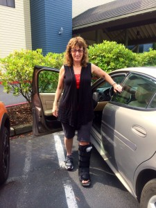 After Dr. Gent's office enjoying my first steps 8-14-14
