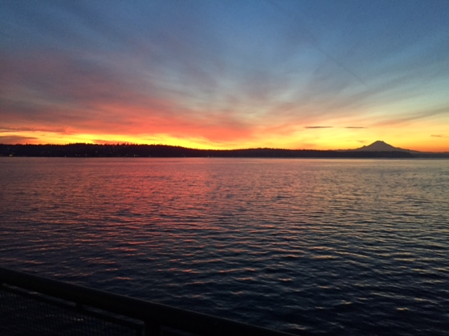 The Morning Artistry by God--Sunrise over Bremerton Ferry