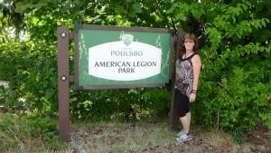 Poulsbo, WA walking in a green park