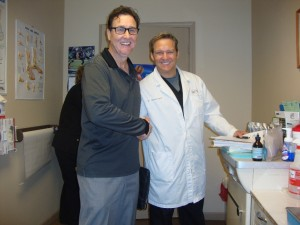 Julian the PRP Representative with Dr. Gent